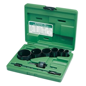 "Greenlee 830 Hole Saw Kit, 7/8 - 2-1/2"""