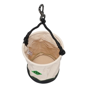 "Greenlee UT158-34 12.5"" x 17"" Large Leather Bottom Round Bucket"