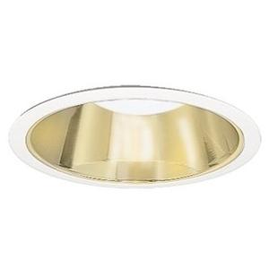 """Halo 426CG 6"""" Trim Reflector Cone, White/Gold"""