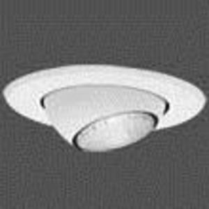 "Halo 5071P Eyeball Trim, Adjustable, 5"", White"