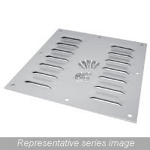 "Hammond Mfg 1481L44 Louvered Ventilating Plates, NEMA 1, (4) Louvers, 5.62 x 5.50"""
