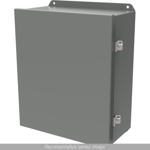 Hammond Mfg HJ16146HLP Junction Box, NEMA 4/12, Continuous Hinge With Clamps, 16 x 14 x 6""
