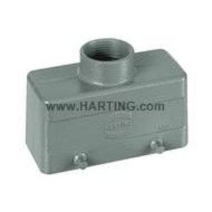 Harting 09300161420 Metal Hood/Housing, Top Entry, Size: 16B, Aluminum/Powder Coated