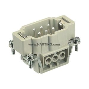 Harting 09330062601 Male Insert, Size 6B, Screw Terminal, 6 Contacts, 16A, 500V
