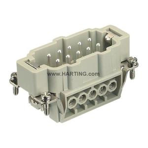 Harting 09330102601 Male Insert, Size 10B, Screw Terminal, 10 Contacts, 16A, 500V