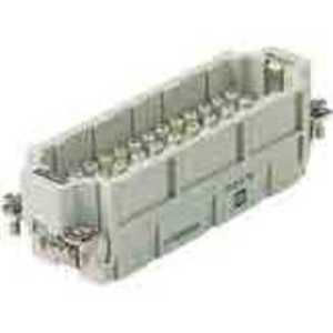 Harting 9320463001 Male Insert, Size 24B, Crimp Termination, 46 Contacts, 16A, 500V