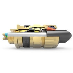"Hawke 501/453/UNIV/B/3/4""NPT Cable Gland, Flameproof, Size ""B"", 3/4"" NPT, Brass"