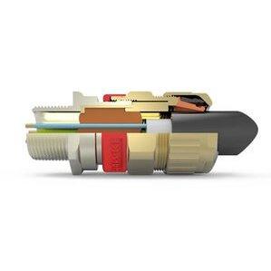"Hawke 710/O/1/2""NPT Cable Gland, Explosionproof, Size ""O"", 1/2"" NPT"