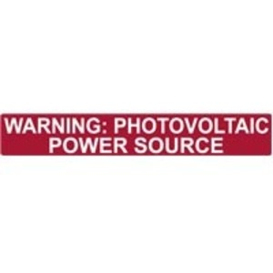 HellermannTyton 596-00206 Photovoltaic Power Source Label