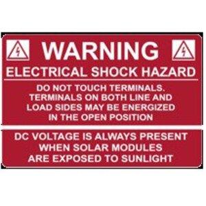 HellermannTyton 596-00232 Electric Shock Hazard Label