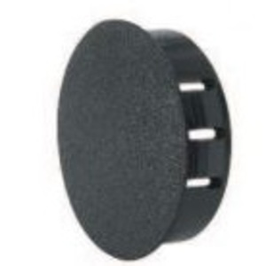 "Heyco 2411 Dome Plug, 2.25"" Diameter, Nylon, Black"