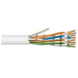 Hitachi Cable America 30237-8-WH2 4 Pair 23 AWG CMP CAT6 - White - No Spline
