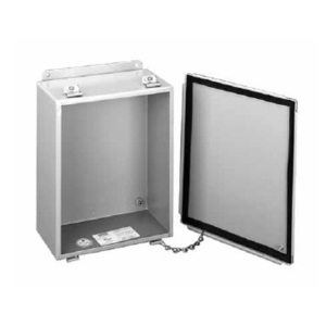 "Hoffman A1008LP Enclosure, NEMA 12, Lift-Off Clamp Cover, 10"" x 8"" x 4"", Steel/Gray"
