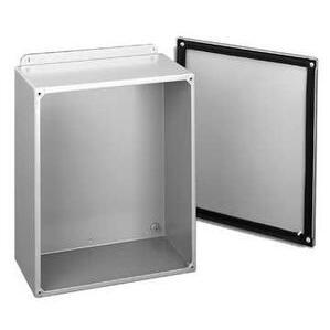 "Hoffman A1008SC Junction Box, NEMA 12, Screw Cover, 10"" x 8"" x 4"", Steel/Gray"
