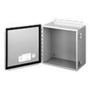 """Hoffman A1210CHS Junction Box, NEMA 12, Continuous Hinge with Clamps, 12"""" x 10"""" x 5"""""""