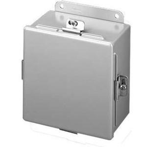 "Hoffman A1614NF Junction Box, NEMA 4, Clamp Cover, 16"" x 14"" x 6"", Steel"