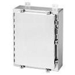 """Hoffman A16H1608ALLP Junction Box, Type 4X, Hinged Cover, 16"""" x 16"""" x 8"""", Aluminum"""
