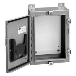 "Hoffman A24H20BLP Enclosure, Wall-Mount, Type 4, 24"" x 20"" x 8"", Steel/Gray"