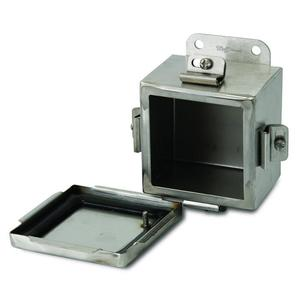 "Hoffman A404NFSS Junction Box, NEMA 4X, Clamp Cover, Stainless Steel, 4"" x 4"" x 3"""