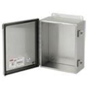 Hoffman A606CHNFSS6 Enclosure, NEMA 4X, Hinge Cover With Clamps, Stainless Steel