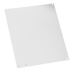 "Hoffman A8P8 Panel For Junction Box, 8"" x 8"", Steel/White Powder Coat Finish"