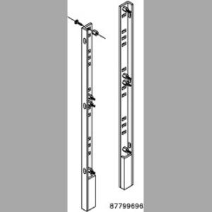 """Hoffman A90FSHDPS Panel Supports, Heavy Duty, 90"""" x 87"""", Steel/White"""