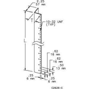 "Hoffman A90RP24F6 (2) Angles 40.25"" Long/rack Mt"