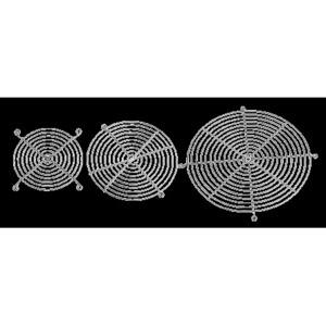 "Hoffman AGARD3 Finger Guard For Compact Axial Fan, Diameter: 3"", Steel/Chrome"