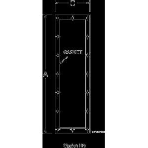 "Hoffman AMOD8424FGK Gasket Kit Modular Disconnect Enclosure, Size: 84 x 24"""