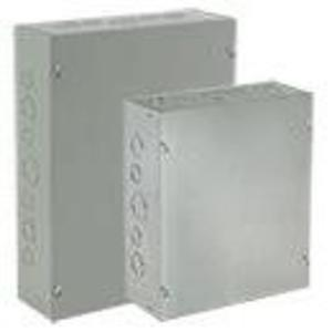 "Hoffman ASE10X10X8NK Pull Box, NEMA 1, Screw Cover, 10"" x 10"" x 8"""