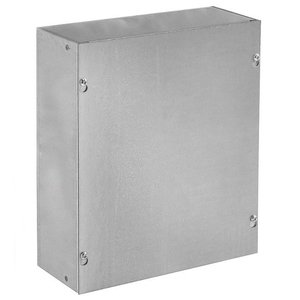 "Hoffman ASG12X12X4NK Pull Box, NEMA 1, Screw Cover, 12"" x 12"" x 4"""
