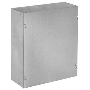 "Hoffman ASG18X18X6NK Pull Box, NEMA 1, Screw Cover, 18"" x 18"" x 6"""