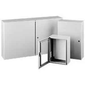 "Hoffman CSD20168LG Enclosure, NEMA 4/12, Hinge Cover, 20"" x 16"" x 8"", Steel"