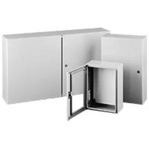 "Hoffman CSD242010W Enclosure, Hinged Window Cover, NEMA 4/12, 24 x 20 x 10"", Steel/Gray"