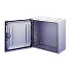 "Hoffman CSD242412LGEMC Enclosure, Type EMC, NEMA 4, Hinge Cover, 24 x 24 x 12"", Steel/Gray"