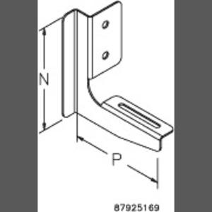 Hoffman CT44LB 4 X 4 L- BRACKET PKG OF