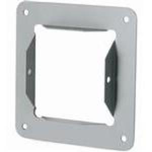"Hoffman F22GPA Wireway Panel Adapter, Type 1, Lay-In, 2-1/2"" x 2-1/2"", Steel, Gray"