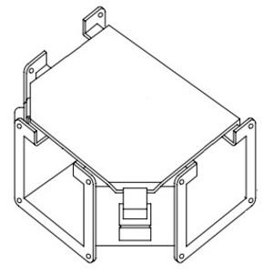 """Hoffman F44LTA Wireway Tee, Type 12, 4"""" x 4"""", Steel, Gray"""