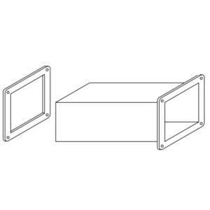 "Hoffman F66WX Wireway Cutoff Fitting, 6"" x 6"""
