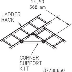 Hoffman LCSKG Corner Support Kit Gray