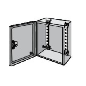 Hoffman LMK15 DIN Rail/Panel Mounting Brackets, For Inline Enclosures, Steel