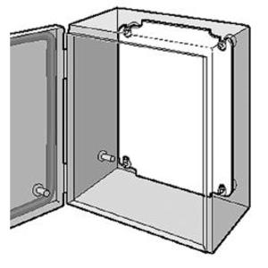 "Hoffman LP2346 Panel For Enclosure, Inline Landscape Series, 8.31"" x 17.36"", Steel"