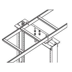 """Hoffman LRRMPBLK18 Rack, to Runway Mounting Plate, for 12/18"""" Width Ladder Rack, Black"""