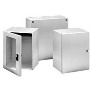 "Hoffman LSC302515SS6 Enclosure, Type: Instrumentation, NEMA 4X, Screw Cover, 12 x 10 x 6"""