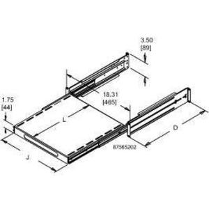 Hoffman P19SHP68B Shelf Pull-out 19in 600-800