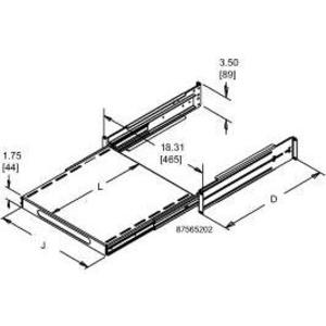 Hoffman P23SHP810B Sliding Equipment Shelf
