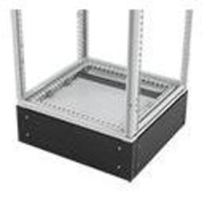 Hoffman PPB2106 Plinth Base, 1000 x 600mm, Cable Access, Black, 4 Corners, 4 Plates