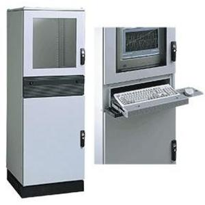 Hoffman PPC2088 PC Modular Enclosure, (3) Access Doors, Sealed Keyboard Compartment