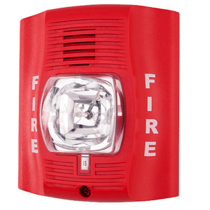 Honeywell P2R Horn Strobe, 2-Wire, Indoor, Wall Mount, 12/24VDC, Red