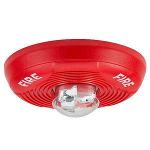 Honeywell PC2R Horn Strobe, 2-Wire, Indoor, Ceiling Mount, 12/24VDC, Red